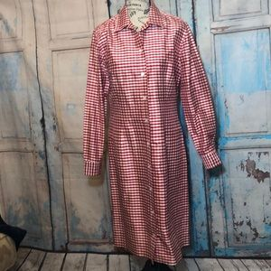 J McLaughlin Silk Shirtdress Dress Checkered NWOT